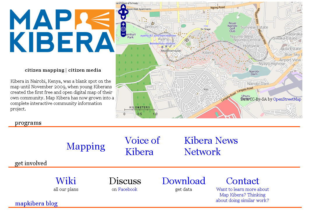 Kenya – Map Kibera