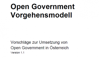Open Government Vorgehensmodell