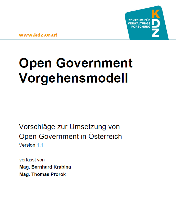 Open Government Vorgehensmodell