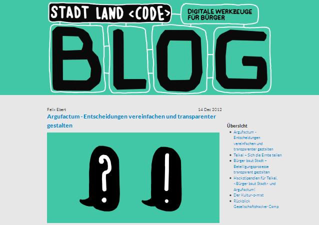 Stadt Land Code – digitale Werkzeuge für Bürger