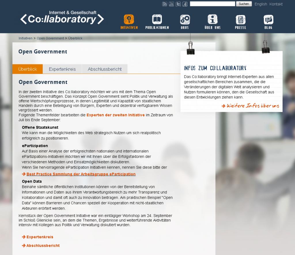 Initiativen – Internet & Gesellschaft Co:llaboratory
