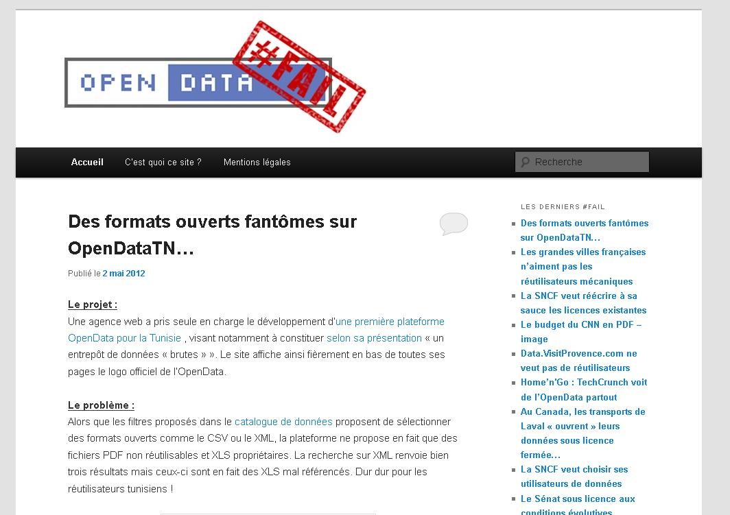OpenData Fail
