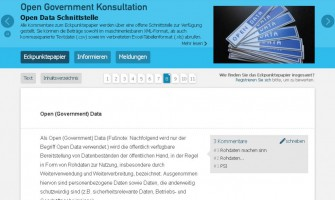 Open Government Konsultation