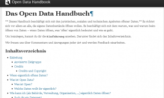 Das Open Data Handbuch — Open Data Handbook