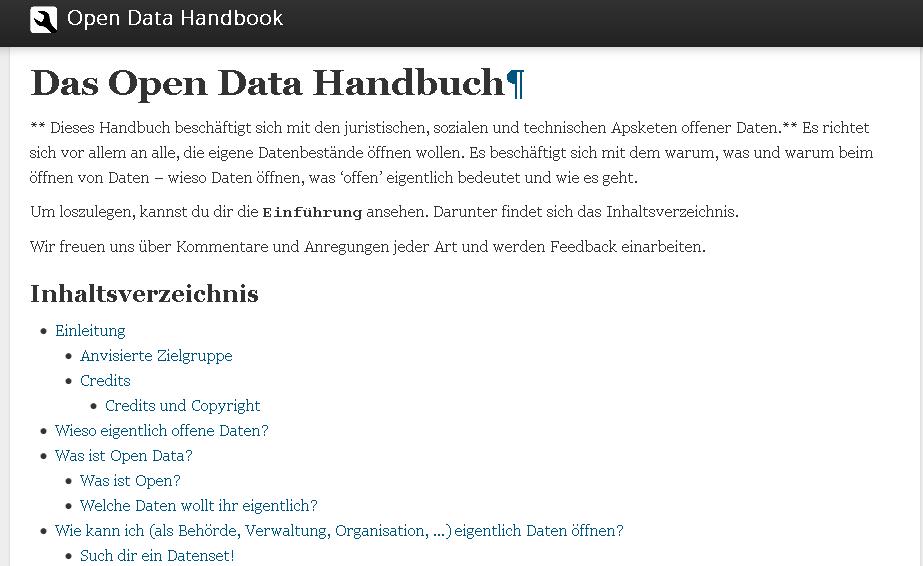 Das Open Data Handbuch — Open Data Handbook