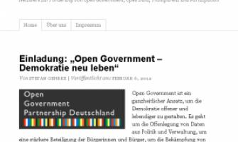 Open Data Network | Netzwerk zur Förderung von Open Government, Open Data, Transparenz und Partizipation