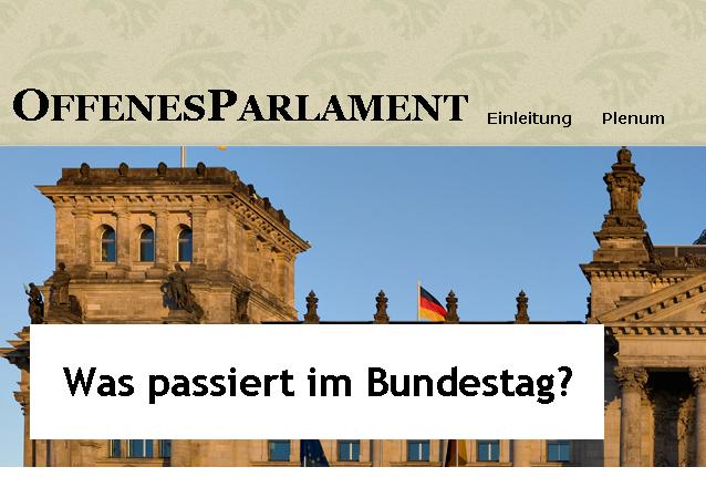 Was passiert in Bundestag und Bundesrat? – OffenesParlament