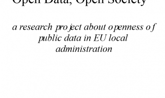 Open Data, Open Society…