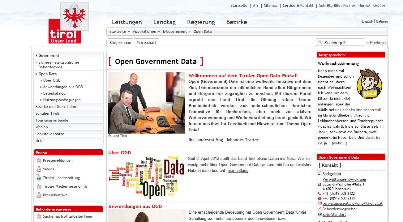 Open Data Portal Tirol