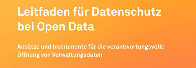 Leitfaden für Datenschutz bei Open Data  – Policy Brief