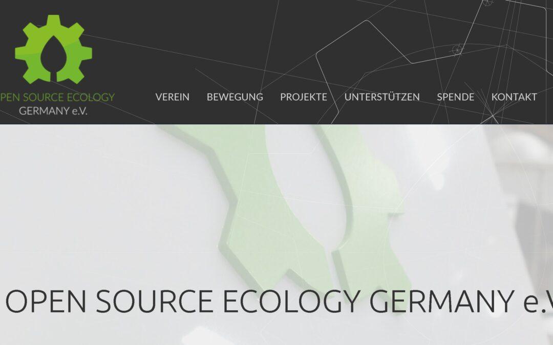 OPEN SOURCE ECOLOGY GERMANY e.V.