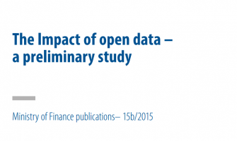 The Impact of open data – a preliminary study