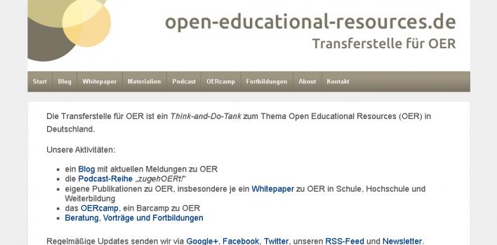 open-educational-resources.de – Transferstelle für OER
