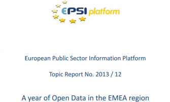 A year of Open Data in the EMEA region