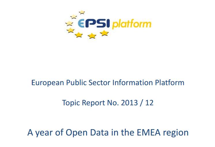 A year of Open Data in the EMEA region
