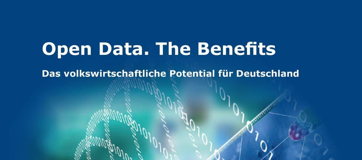 """OPEN DATA. The Benefits – Das volkswirtschaftliche Potential für Deutschland"""""""