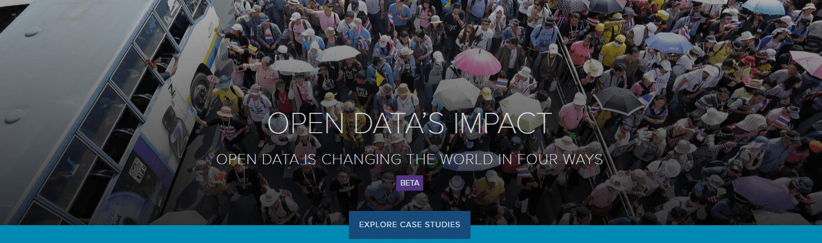OPEN DATA'S IMPACT