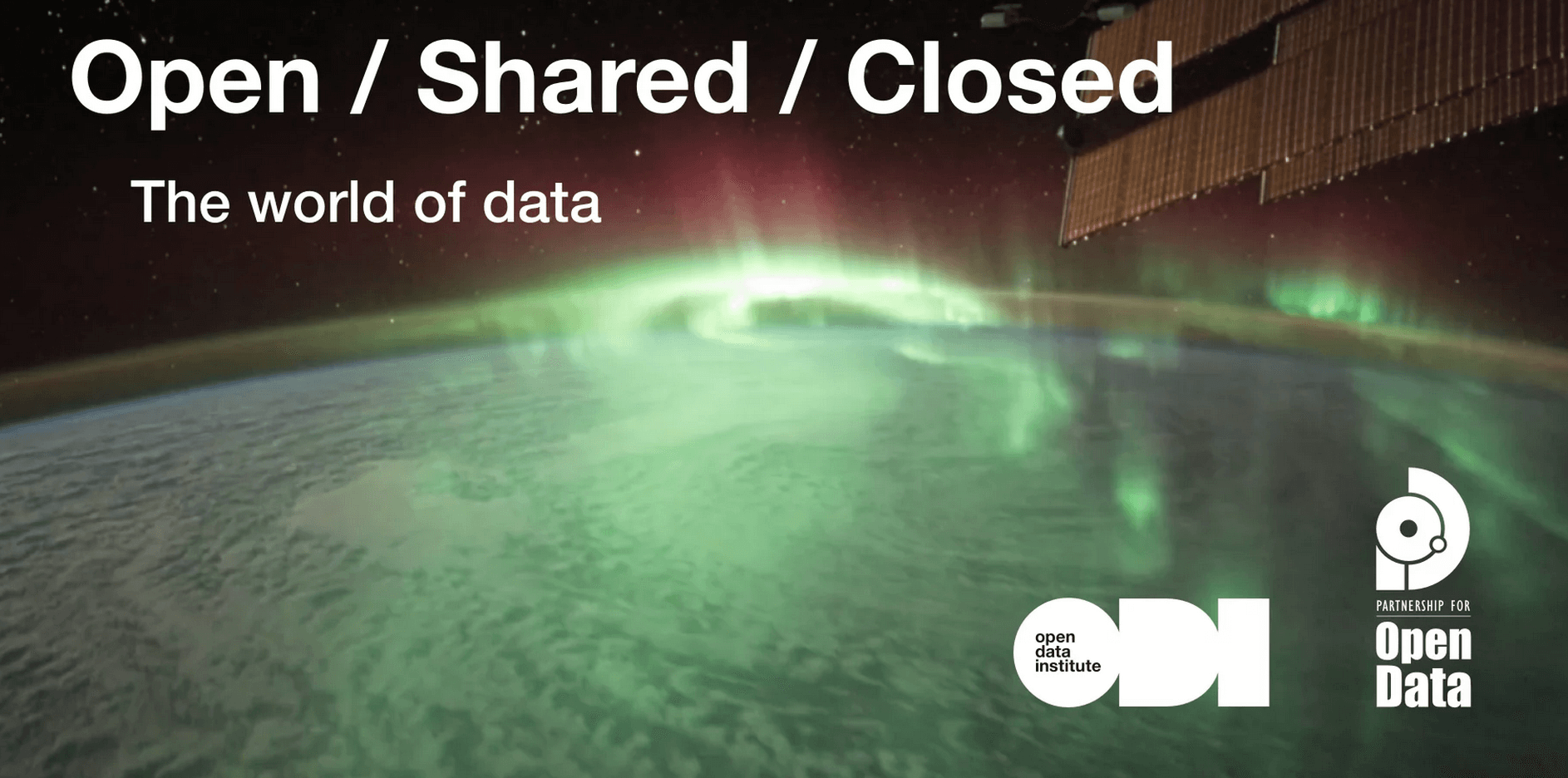 Open/Shared/Closed: The world of Data