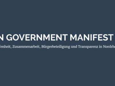 Open Government Manifest NRW
